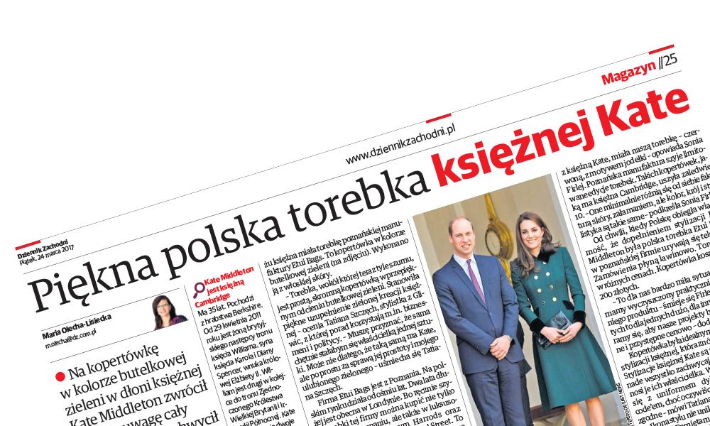 Polska torebka księżnej Kate
